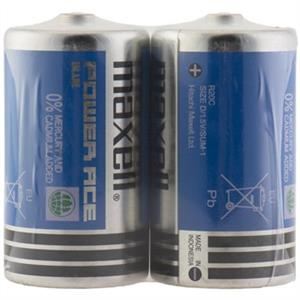 Maxell Super Power Ace D Pack of 2 Battery